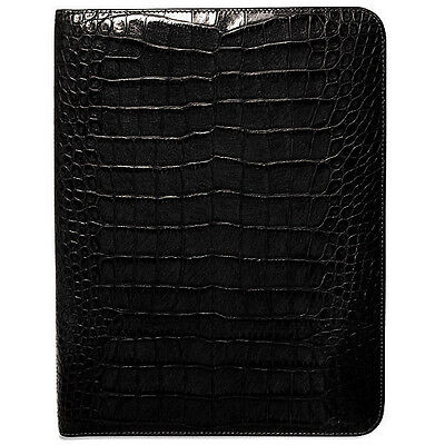 Jack Georges Croco Letter Size Writing Pad Cover 2511 Blk
