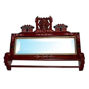 6623-Fabulous-19th-C-Antique-American-Victorian-Towel-Bar-Mirror