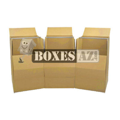 Moving Boxes 3 Wardrobe Boxes  w/Bar - FREE Expedited Shipping