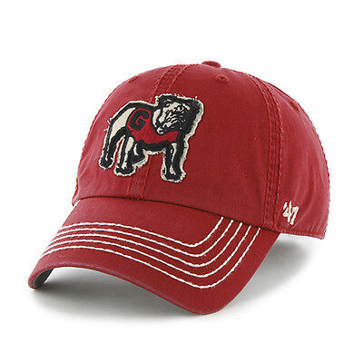 NCAA Baseballcap/Basecap GEORGIA BULLDOGS red Mascot '47Brand adjustable slouch (Ncaa Baseballs)