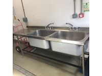 Kitchen catering Double Stainless Steel Sink