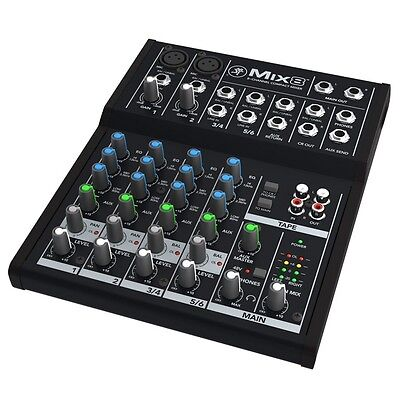 Mackie Mix Series Mix8 8-Channel Compact Professional Studio Live Mixer  - Live Compact Mixer