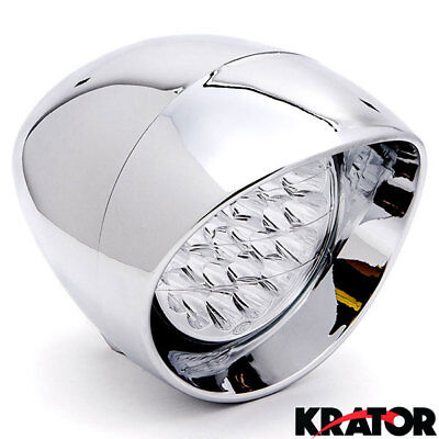 """7"""" Chrome LED Headlight For Honda VT Shadow Spirit Velorex Deluxe 600 750 1100"""