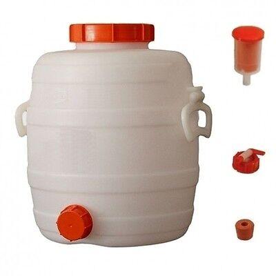 Speidel Fass Getränkefass Mostfass 20L lebensmittelecht rund mit Zubehör