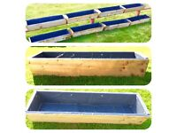 Wooden planters / flower boxes