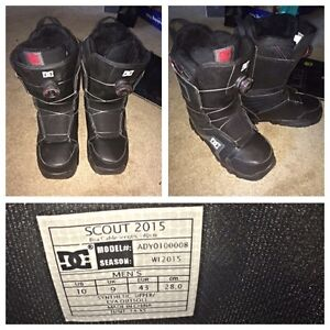 Men's DC boa laced size 10 Snowboard boots