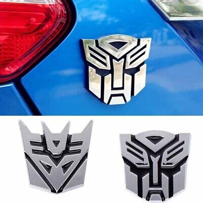 3D Transformers Logo Emblem Badge of Autobot & Decepticon Cars Gas Door Stickers