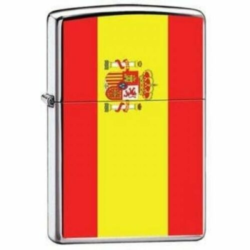 Zippo Lighter - Spain Flag High Polished Chrome - ZCI007976