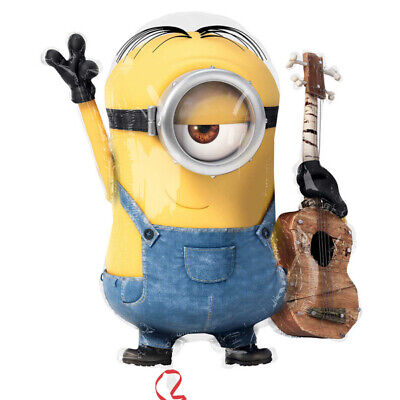 Minions Stuart with Guitar Supershape Foil Balloon - Minions With Balloons