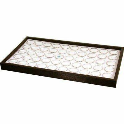 50 White Foam Gem Jars Stackable Display Tray