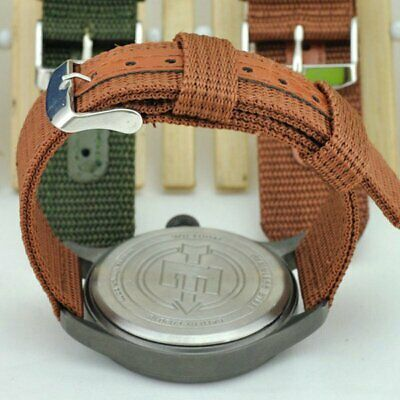 Men Military Army Watchband Bracelet Nylon Canvas Watch Band