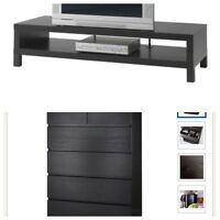 IKEA Drawer Chest + TV Bench Black/Brown