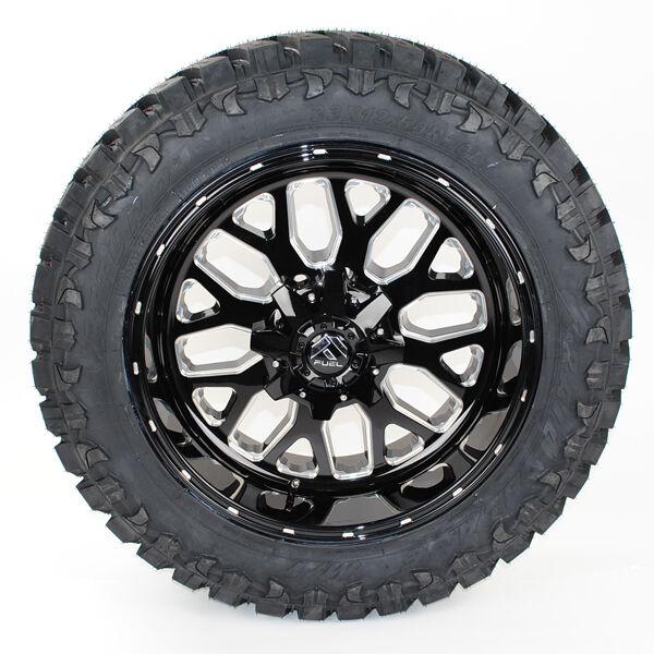 20x10 Fuel D588 Black Atturo Mt 35x12.50r20 Wheels Tires