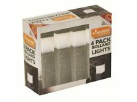 4 Pack Solar Powered LED Garden Lights - NEW + FREE Local Delivery