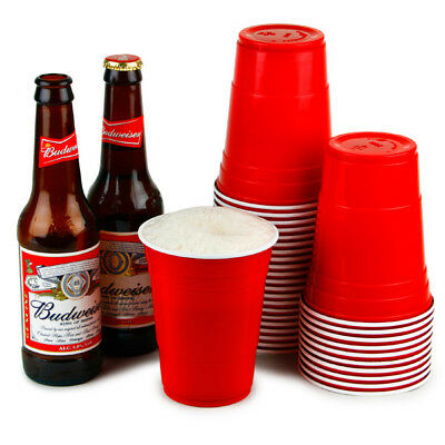 12oz Red American Party Frat Cups Beer Pong Strong Disposable x 50/100/1000