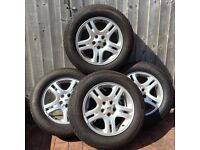 """Four 18"""" Alloy Wheels and Tyres"""