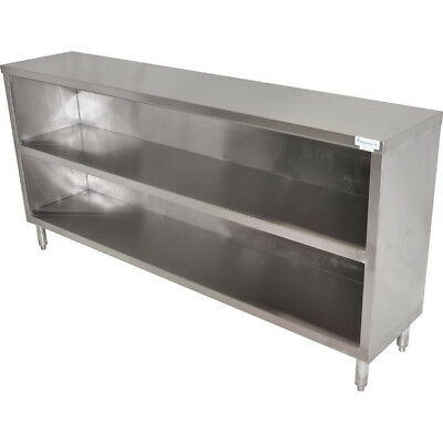 Commercial Stainless Steel Dish Cabinet - 48 Length - Bar Restaurant Storage
