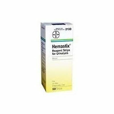 Hemastix Reagent Strips for Urinalysis, Tests for Blood in Urine 50 ea