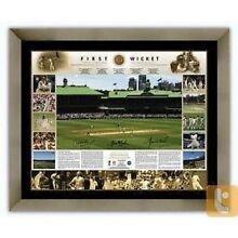 Warne, Langer, McGrath Signed & Framed 'First Wicket' Print Willetton Canning Area Preview