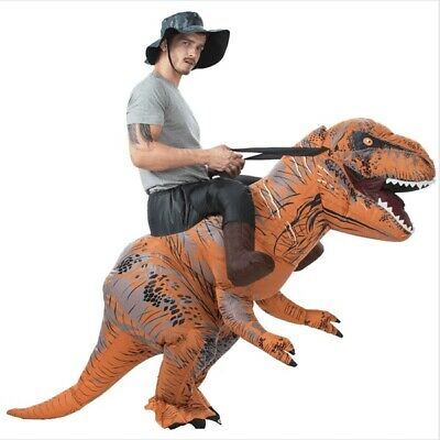 T-REX Dinosaur Rider Inflatable Dino Costume Outfit w/Batteries Fan Adult Size
