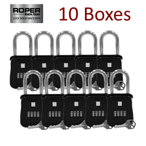 {LOT OF 10} Key Lock Box for Municipality, School Systems - Door Hanger