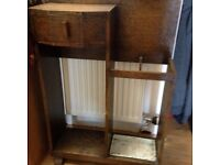 Solid wood umbrella stand
