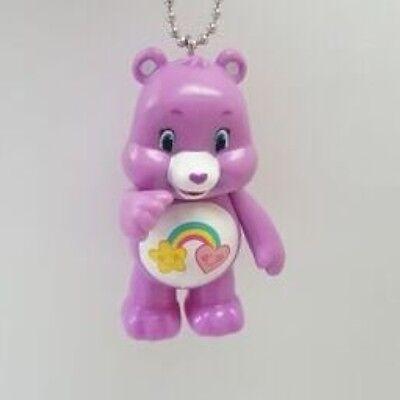 Best Friend Purple Care Bear Keychain Dangler Key Chain Ring Figure 3