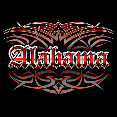 NEW Alabama Tattoo Style Black T-shirt M L XL 2X 3X Men's Women's BLUE WAVE ()