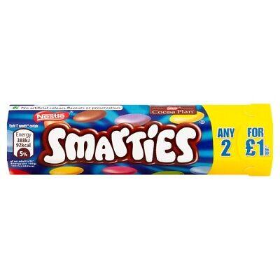 Nestle Smarties Milk Chocolate Sweets Shell Tube 38g x 48 (205403)