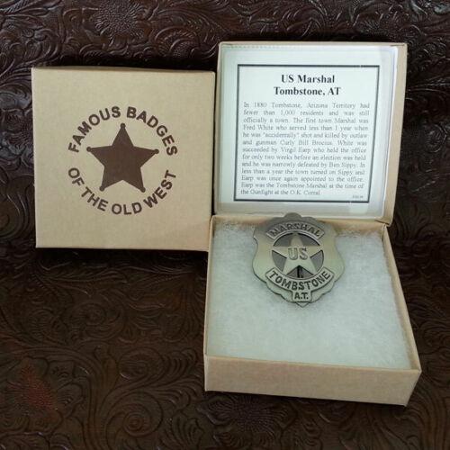 Tombstone Arizona Territory U.S. Marshal Badge