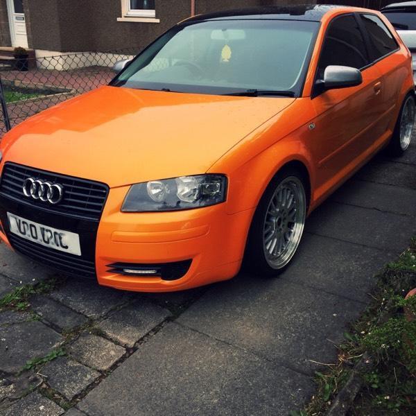 Audi A3 1.6 ! Lambo Orange + 1 YEAR MOT + CHEAP INSURANCE
