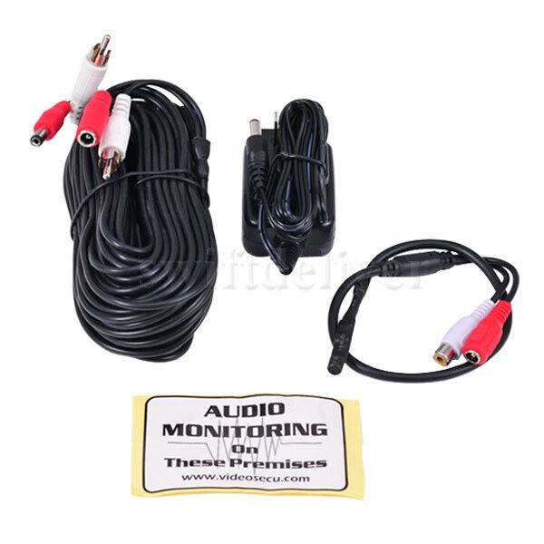 CCTV Security Camera Mic Kit Mini High Sensitive Audio Microphone RCA Output CN8