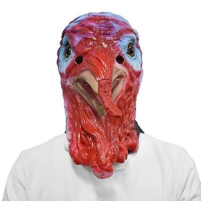 MASCARELLO Turkey Mask Animal Head Rooster Chicken Fancy Dress Thanksgiving Cos