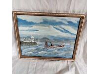 Framed Fishing Boat