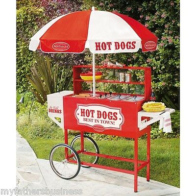 Hot Dog Carts Cart For Sale Vendor Concession Stand Umbrella Mobile Commercial