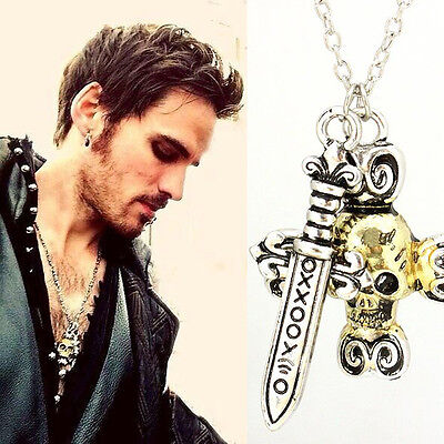 Free Shipping Once Upon a Time inspired Killian captain Hook Necklace