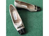 Beautiful Italian square-heeled shoes, size 37.5