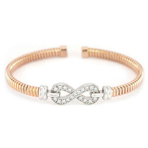 "Silver Rose Gold Plated Bracelet (Weight:10g, Length:6.5"")#3007"