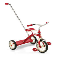radio flyer bicycle - tricycle red with parent handle MINT!!