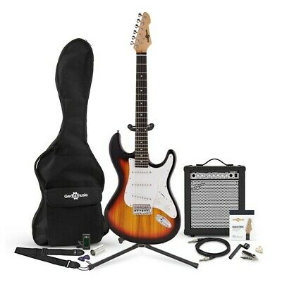 LA Electric Guitar + 35W Complete Amp Pack Sunburst