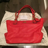 coral Coach purse