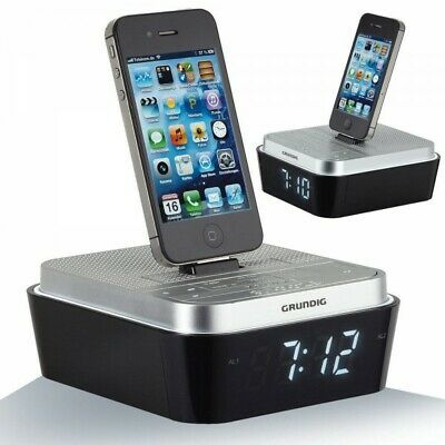 GRUNDIG SONO CLOCK DIGITAL UHREN RADIO WECKER iPHONE 4 4S iPOD DOCK WAKE LIGHT ()