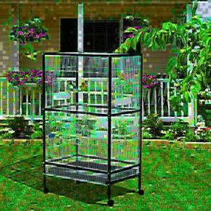 Cage à Oiseaux avec Base Roulante 54'' x 30'' x 20.5''