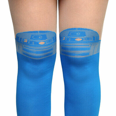 Star Wars R2-D2 Faux Thigh-Highs Tights Stockings 1 Pair S/M Cosplay 🔥🔥](Star Wars Tights)