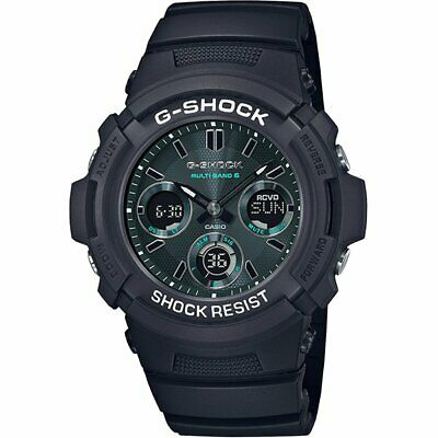 CASIO G-SHOCK Black and Green AWG-M100SMG-1AJF Solar Radio Men's Watch New Japan