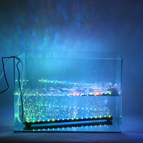 Color Changing Led Air Bubble Light Underwater Submersible