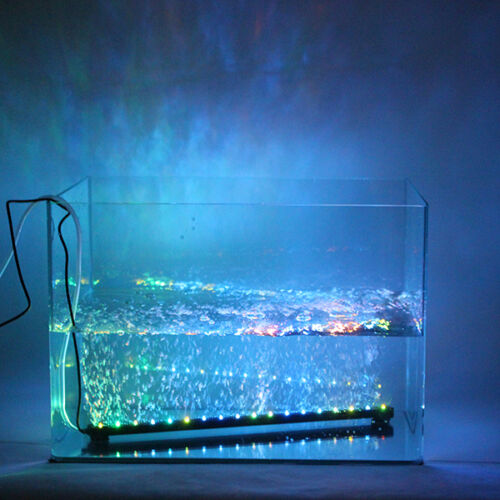 Color changing led air bubble light underwater submersible for Submersible fishing light