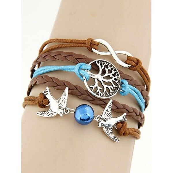 Peace Dove Tree Braided Bracelet