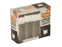 4 Pack Solar Powered LED Garden Lights - NEW