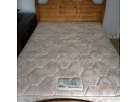Pine bed and mattress